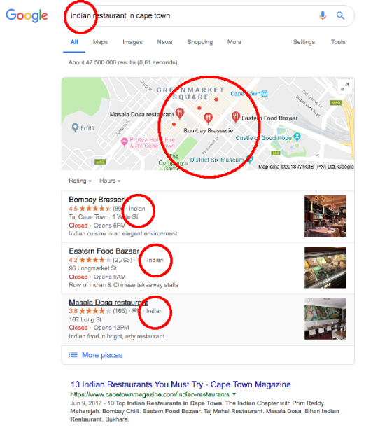 local seo cape town category