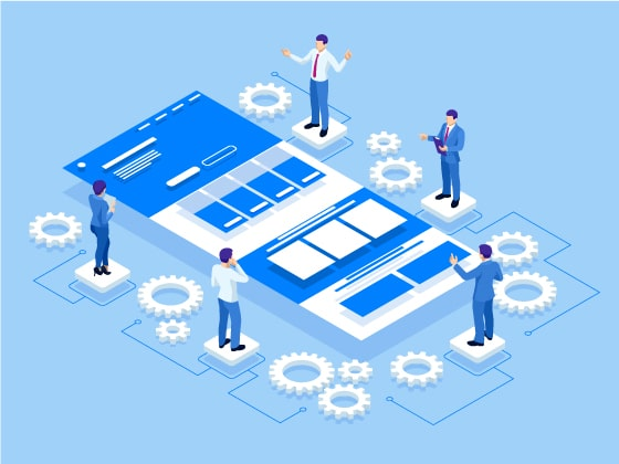 seo company site architecture group work