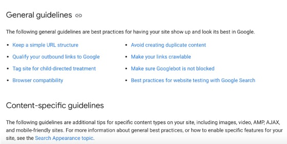 seo cape town general guidelines